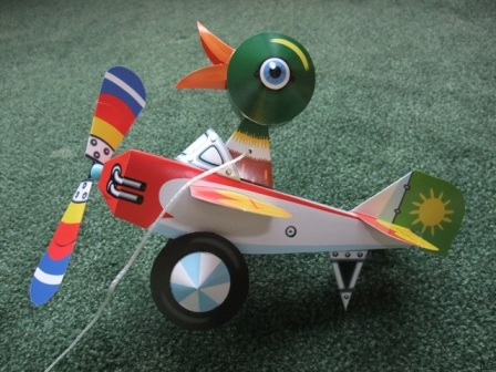 flying duck, papercraft