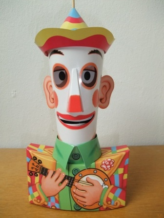 clown with moving eyes, papercraft, papertoy