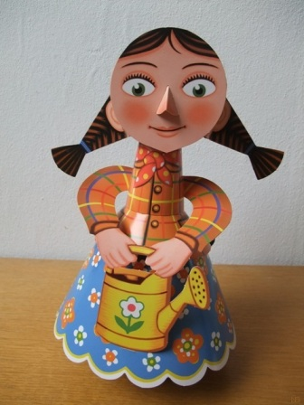 dancing doll, papertoy, papercraft