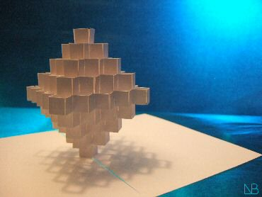 growing chrystal, origamic architecture, pop-up card, sliceform