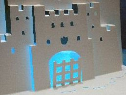 castle pop-up card 90 degrees