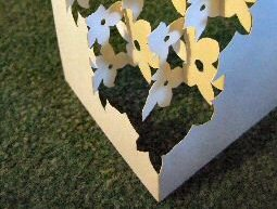 flowers pop-up card