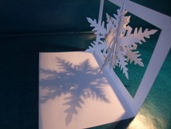 snowflake, pop-up card 90 degrees