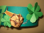party hat with snail, origami