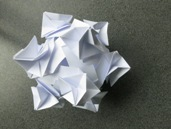 whip, modular origami with strips of paper