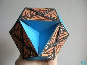 butterflyball, modular origami, paper toy