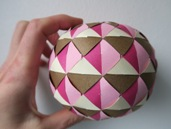 paper weaving, globe, triangles